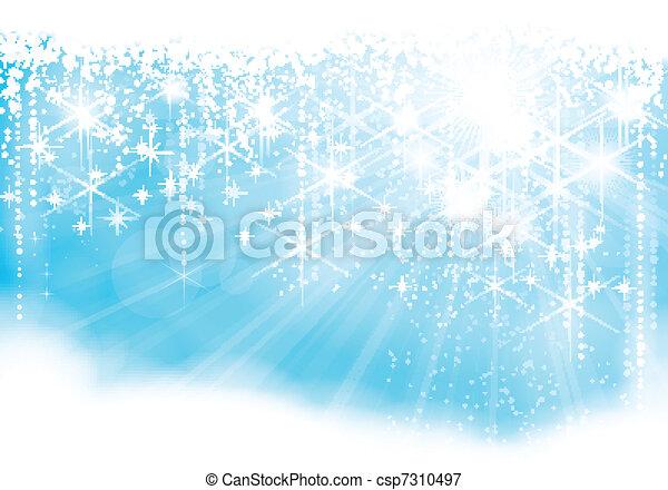 Sparkling Christmas lights - csp7310497