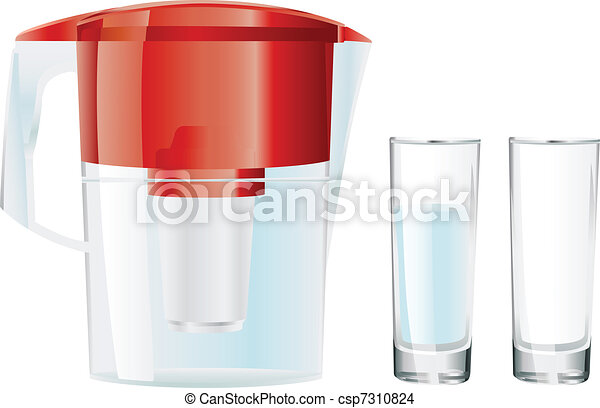 water filter and two glasses - csp7310824