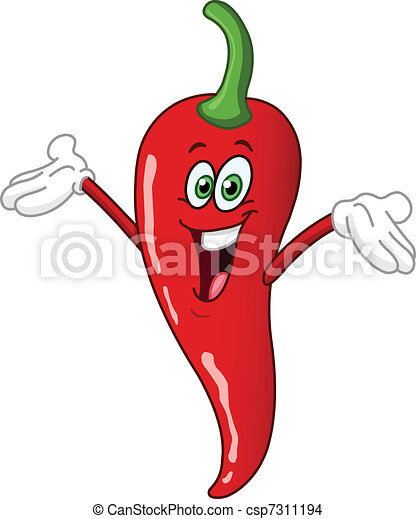 Chili pepper cartoon - csp7311194