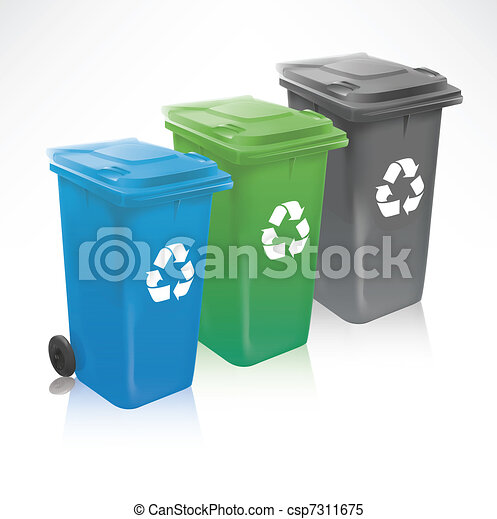 Modern Recycle Bins - csp7311675