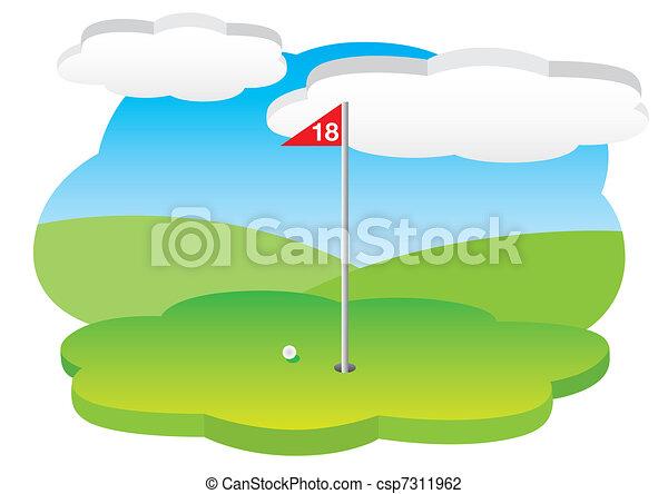 18th hole - csp7311962