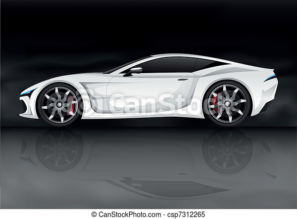 realistic vector sports car - csp7312265