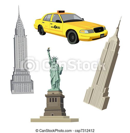 New York City Symbols - csp7312412