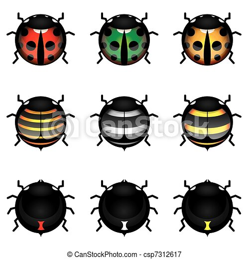 Cute insect collection - csp7312617