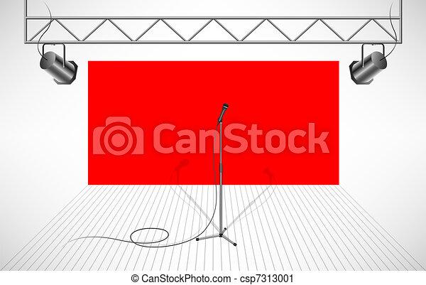 Studio with isolated microphone - csp7313001