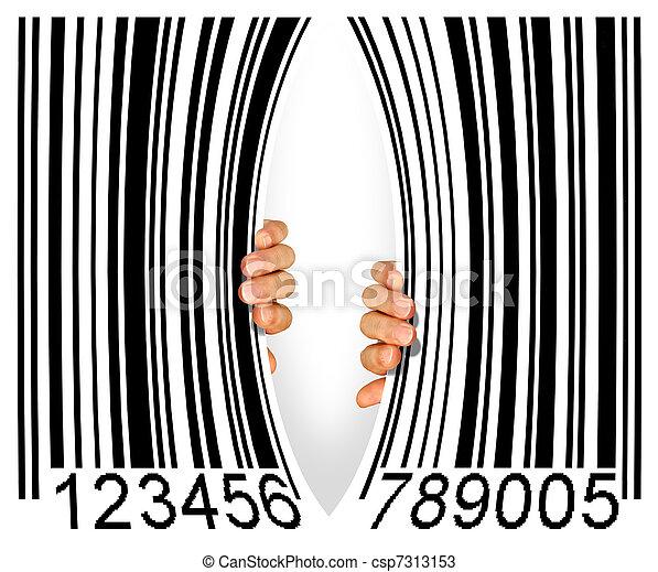 Torn Bar Code - csp7313153