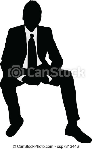 Businessman sitting - csp7313446