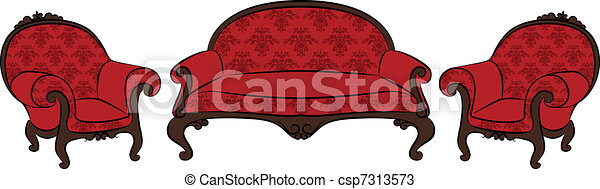 sofa and arm-chair - csp7313573