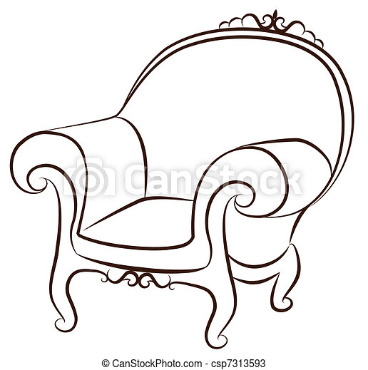arm-chair for vintage interior - csp7313593
