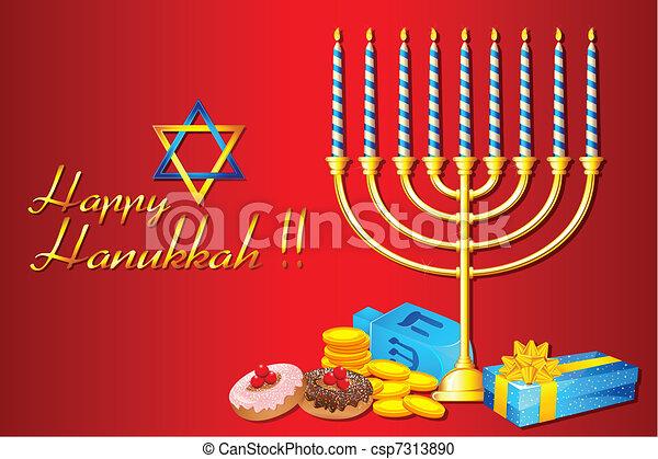 Hanukkah Menorah - csp7313890