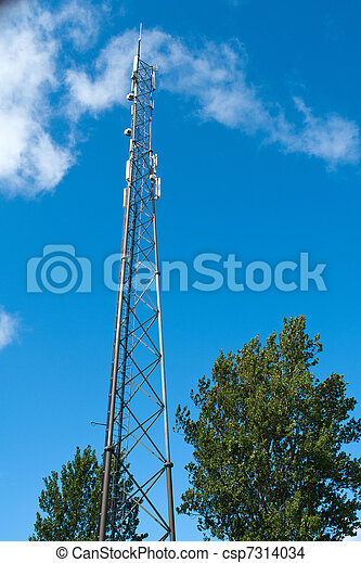 Telecommunication communication antenna tower mast - csp7314034