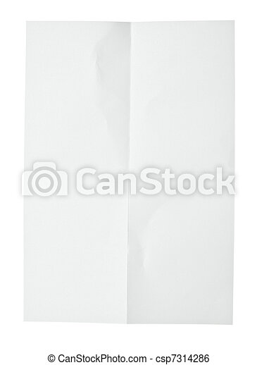white crumpled note paper - csp7314286