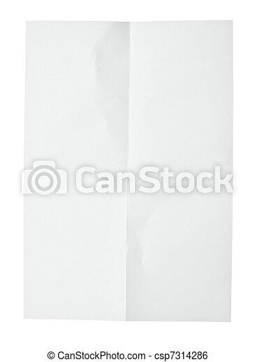 white crumpled note paper - csp7314286