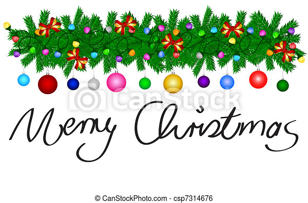 Merry Christmas Card - csp7314676