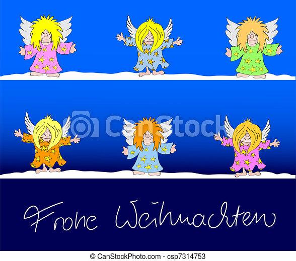 xmas card Frohe Weihnachten - csp7314753