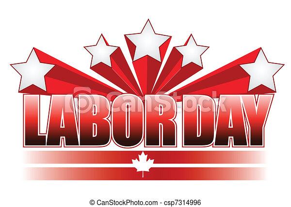 Labor day Canada illustration  - csp7314996