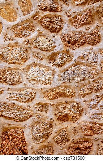 Majorca stone masonry wall vertical composition - csp7315001