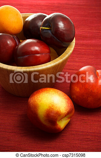 Juicy nectarines, plums and apricot - csp7315098