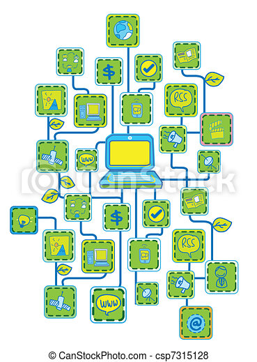Internet Universal Networking link - csp7315128