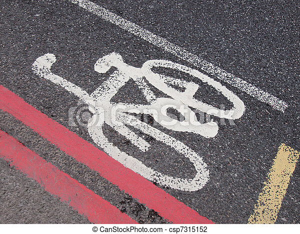 Bike lane sign - csp7315152