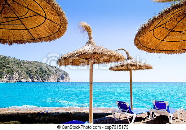 Camp de Mar in Andratx from Mallorca balearic island - csp7315173