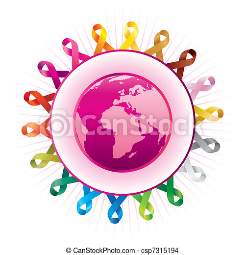 awareness ribbons and - csp7315194