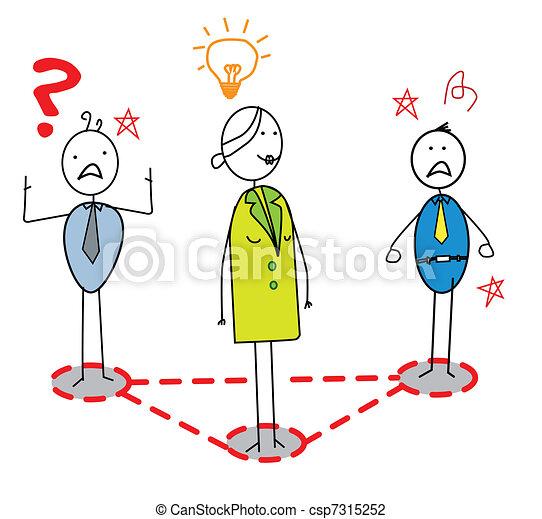 businesswoman idea  - csp7315252