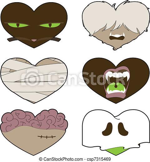 I Heart Halloween - csp7315469