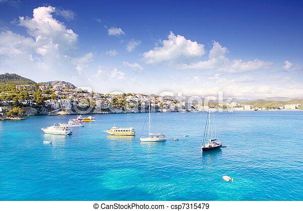 Cala Fornells Majorca in Mediterranean Mallorca Island - csp7315479