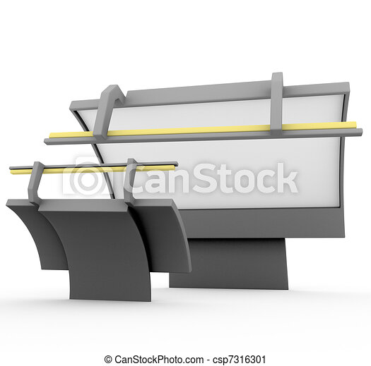 3d render on aggressive marketing competitive rivalry billboard - csp7316301