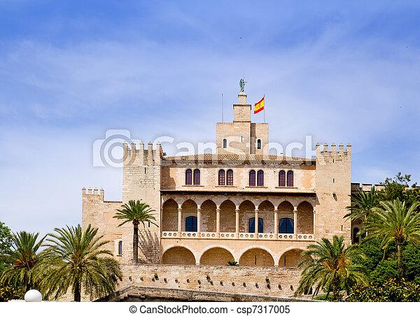 Almudaina palace in Palma de Mallorca from Majorca - csp7317005