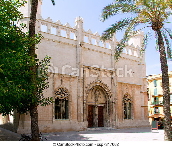 La Lonja monument in Palma de Mallorca from Majorca - csp7317082