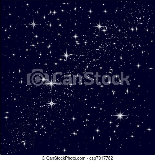 Vector illustration of a starry sky - csp7317782