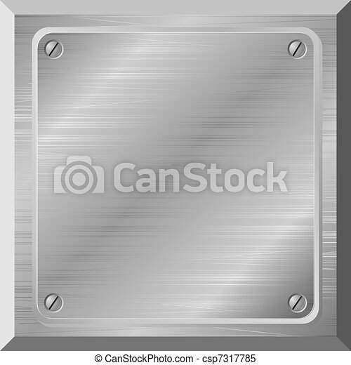 Vector illustration of a metal plate with scratches - csp7317785