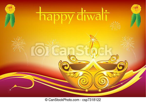 Diwali Diya - csp7318122