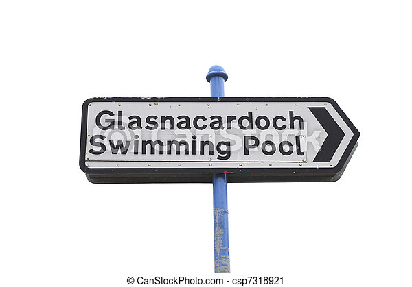 Swimmingpool roadsign - csp7318921