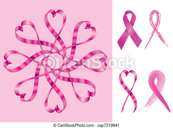 Breast Cancer Support Ribbons - csp7319941