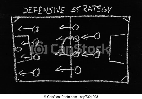 defensive strategy on chalkboard - csp7321098