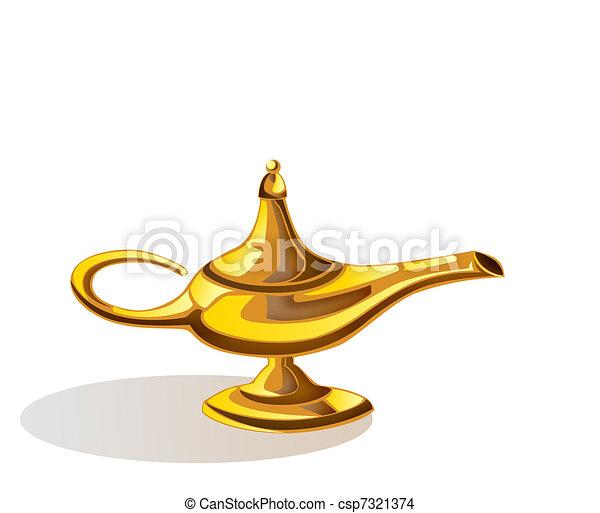 Aladdin's Magic Lamp  - csp7321374