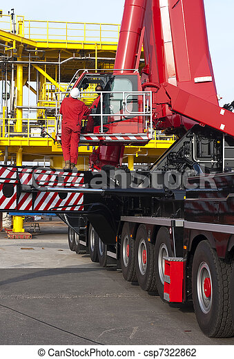 Oil rig construction - csp7322862