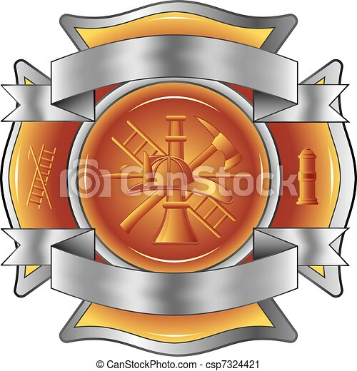 Firefighter Etched Cross with Tools - csp7324421