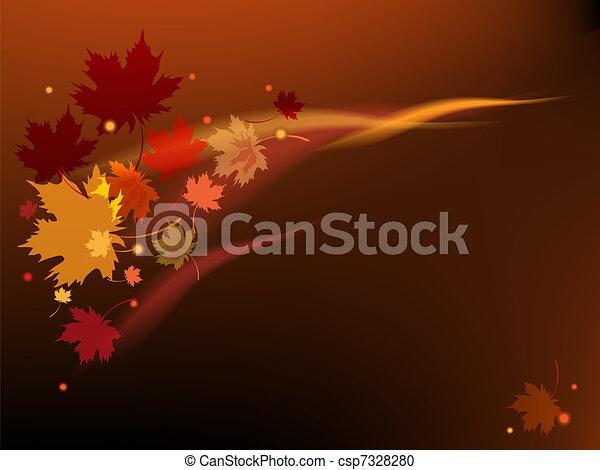 Brown autumn background - csp7328280