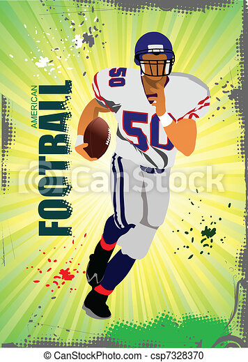 American football pozter. Vector il - csp7328370