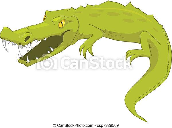 Cartoon Character Crocodile - csp7329509