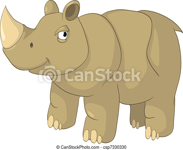 Cartoon Character Rhino - csp7330330