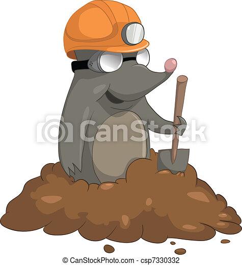 Cartoon Character Mole - csp7330332