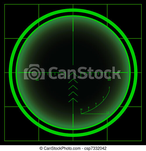 Sniper's cross or radar screen - csp7332042