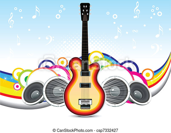 abstract musical background - csp7332427