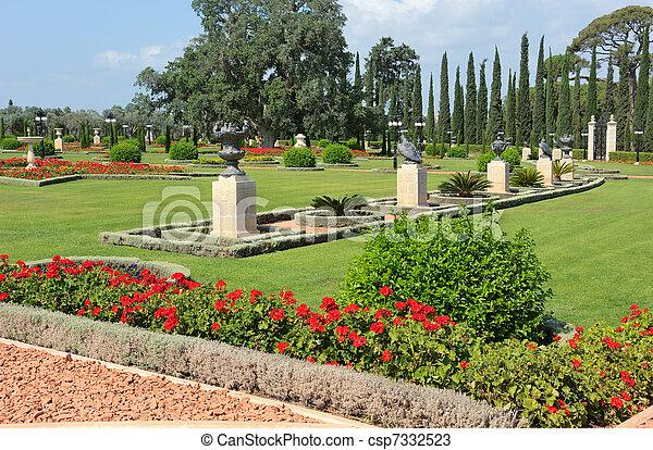 Bahai Gardens near Acre - csp7332523