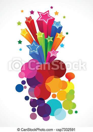 blast with stars vector illustration csp7332591 - Search Clipart ...